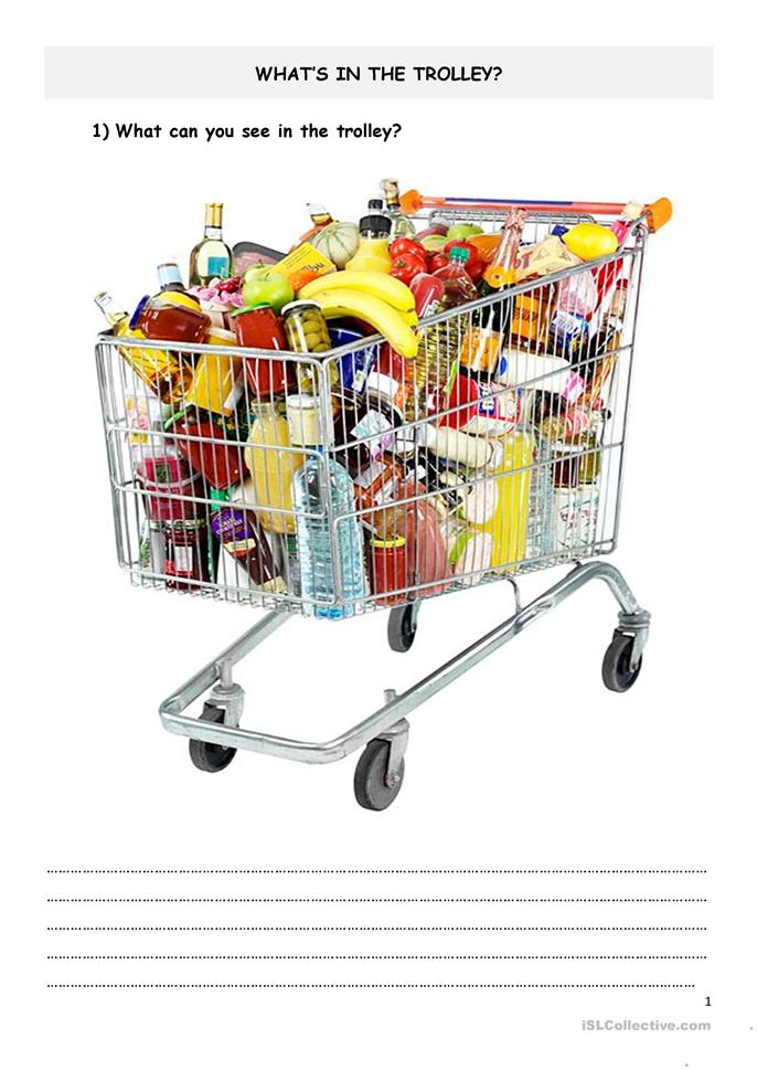 What's in the trolley - ESL worksheets