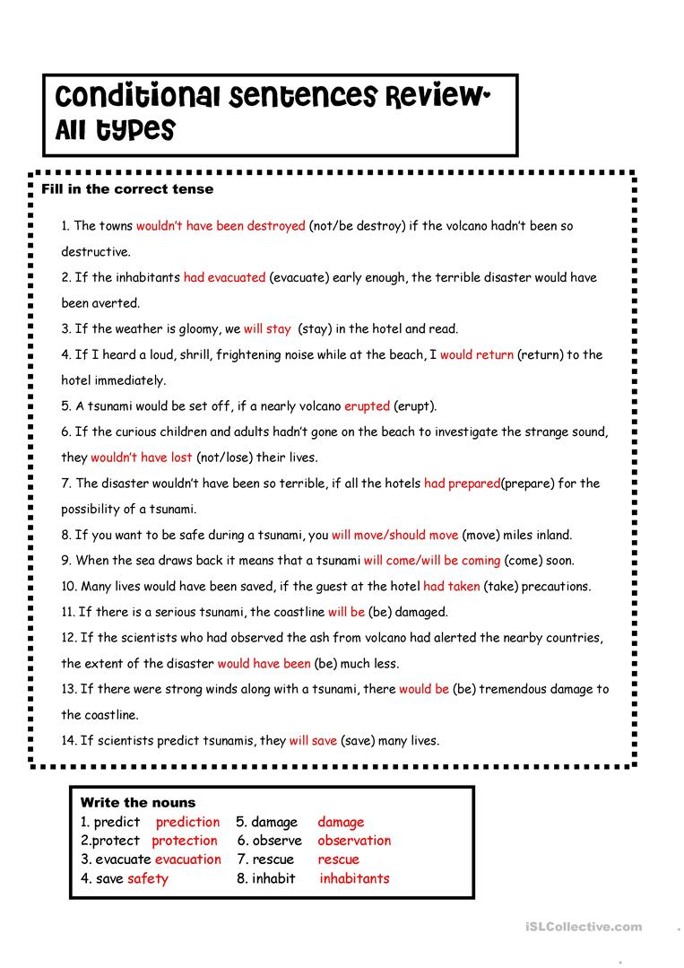 conditionals 1 2 3 vs tsunamis with key worksheet free esl printable worksheets made by teachers. Black Bedroom Furniture Sets. Home Design Ideas