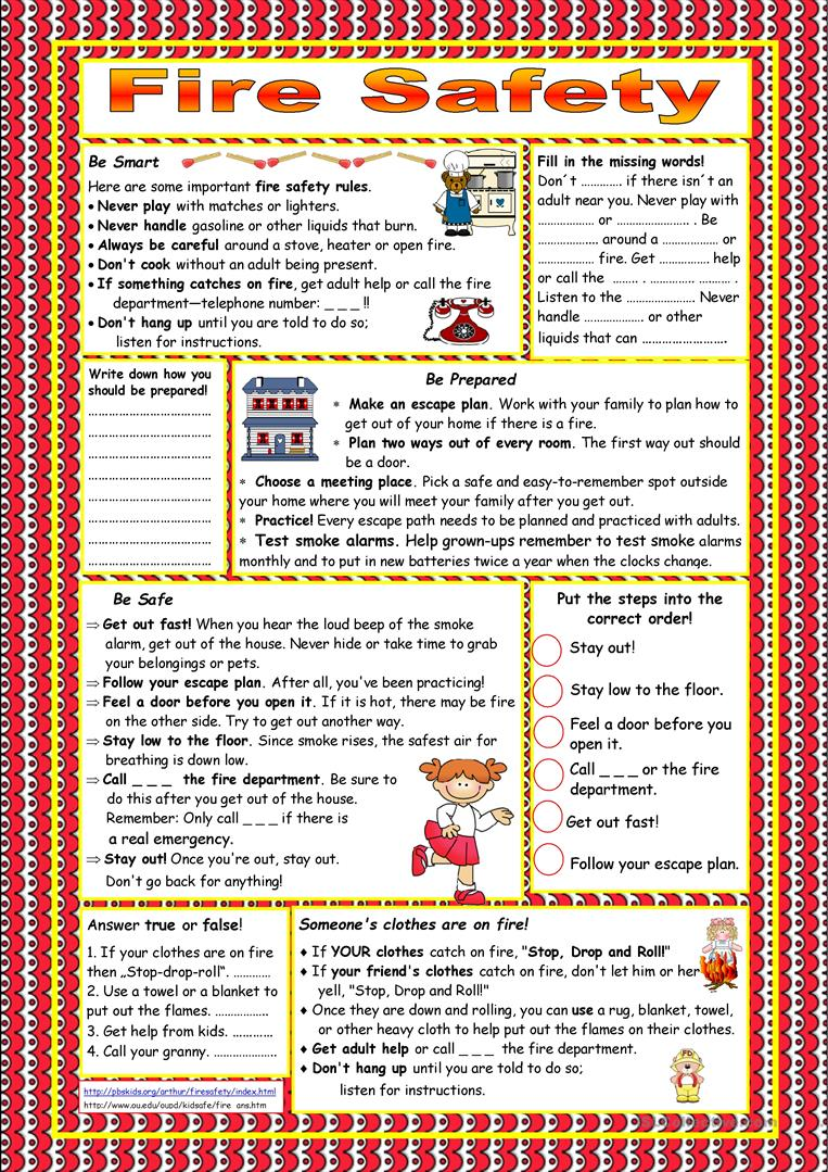 It's just a picture of Adorable Safety Worksheets - Printable