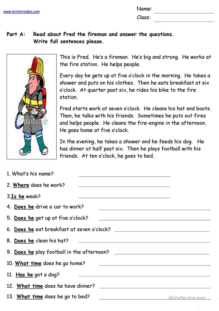 Dashing image within free printable spanish reading comprehension worksheets