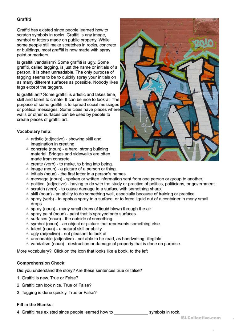 54 FREE ESL Art worksheets – Art Criticism Worksheet