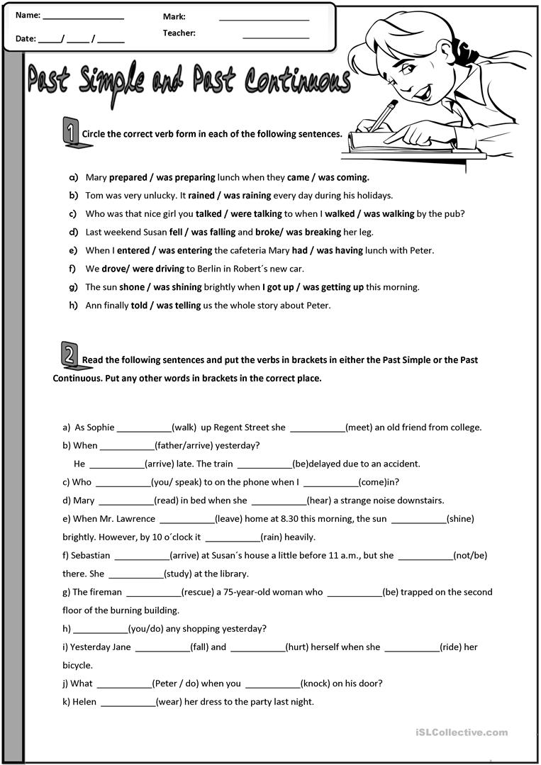 Past Simple And Past Continuous English Esl Worksheets For Distance Learning And Physical Classrooms