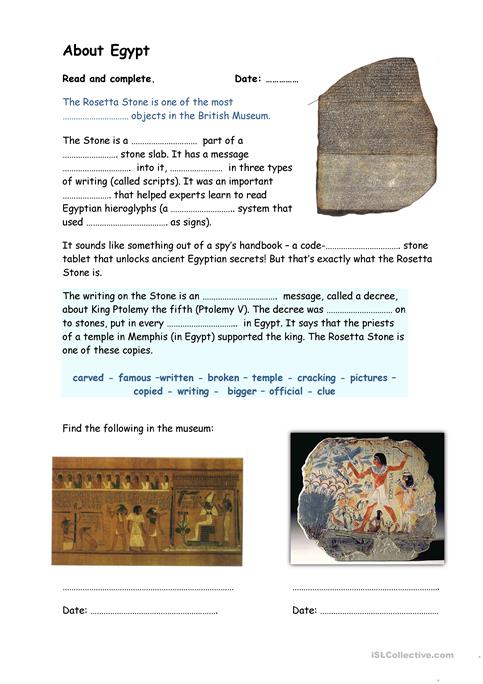 A Visit At The British Museum Worksheet Free Esl Printable