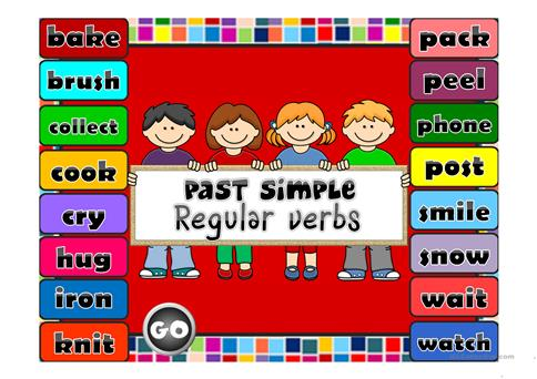 Resultado de imagen de past simple regular verbs games