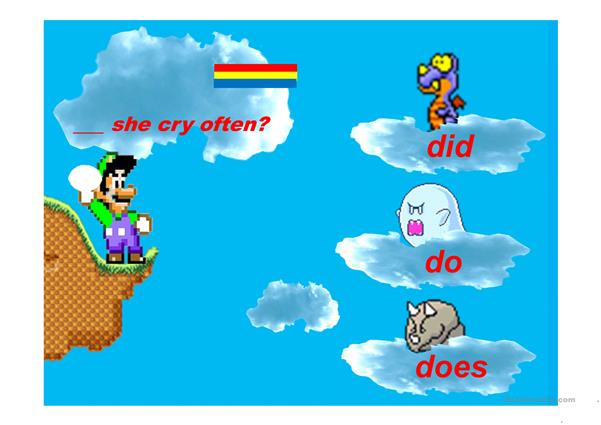 Auxiliary Verbs Mario Egg Game Part 3