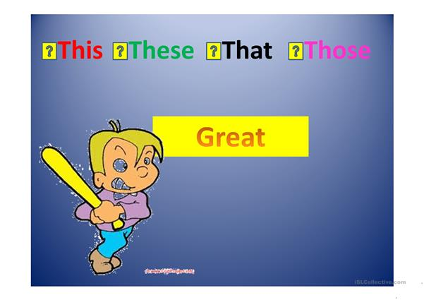Demonstratives game