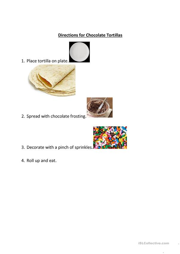 Directions for Making Mexican Chocolate Tortillas