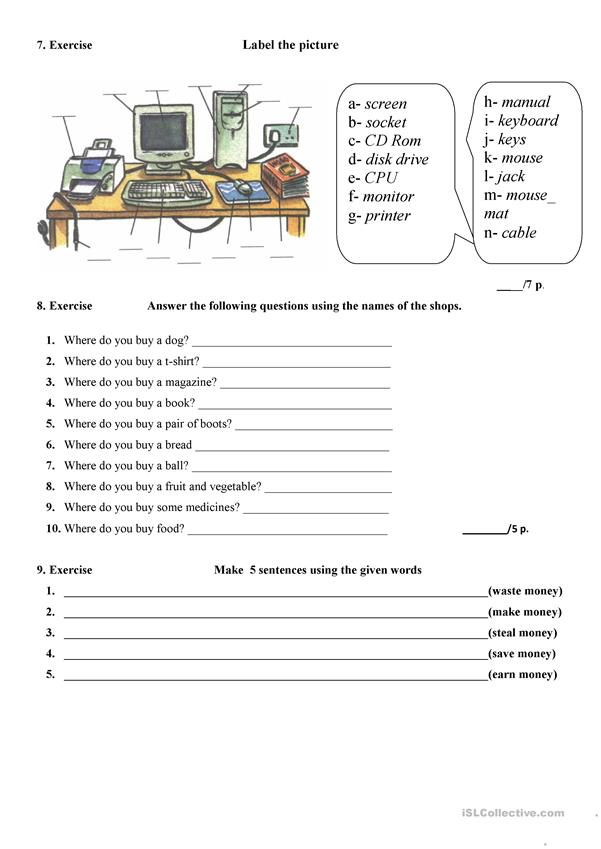 English Test for Elementary
