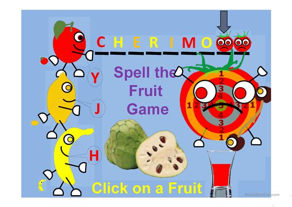 Fruit Shooting Game Spell the Fruit Part 5