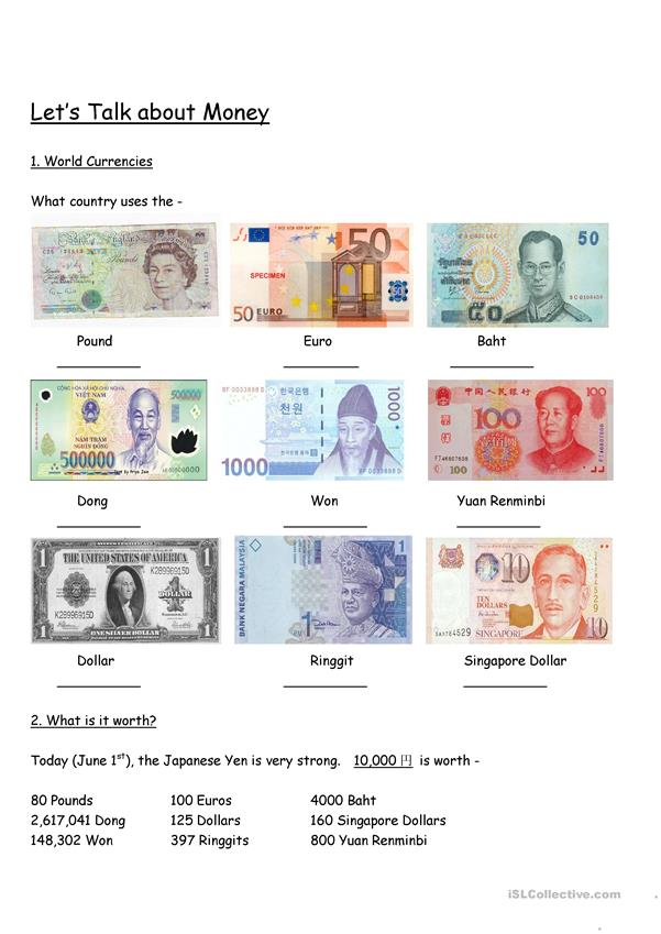 Let's Learn about Foreign Currencies