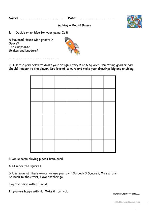Make a snakes and ladder game