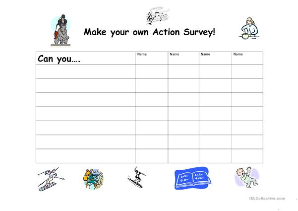 Make Your Own Action survey