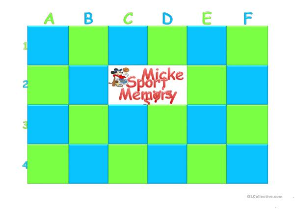 Mickey's Sports Memory game
