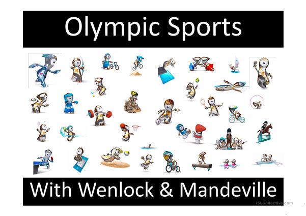 Olympic Sports with the mascots