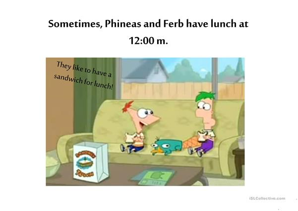 Phineas and Ferb's Daily Routine