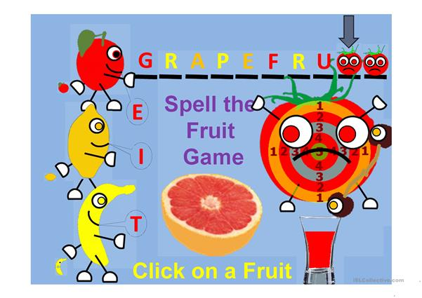 Spell the Fruit Game and fill the glass Part 1