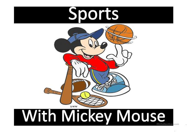 Sports with Mickey Mouse