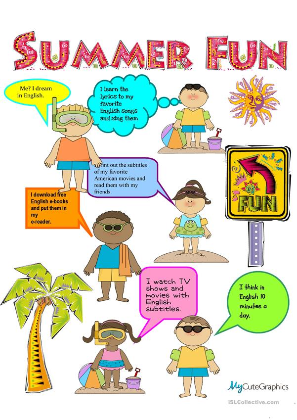 Fun English Tips for Summer Vacation