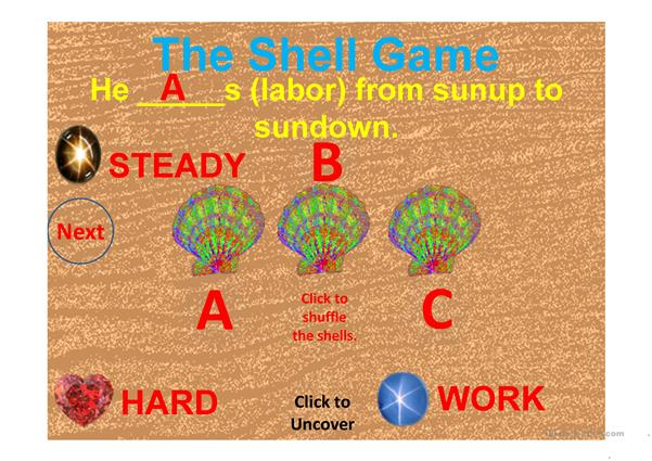 SYNONYMS SHELL GAME