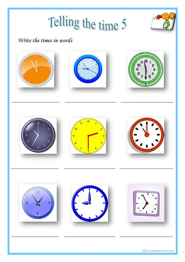 Telling the time 5