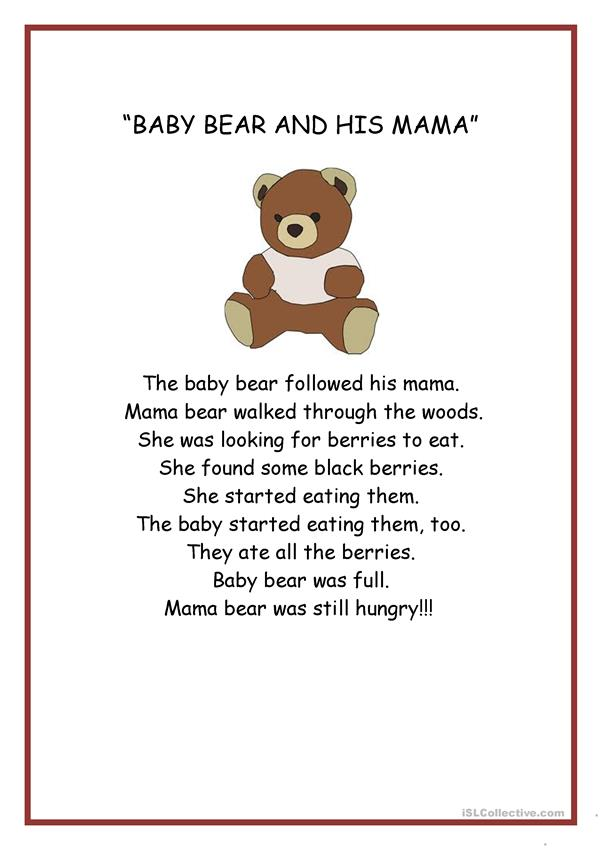 THE STORY OF A BABY BEAR