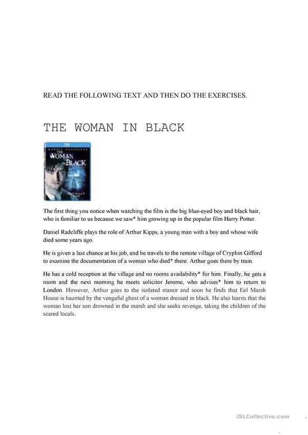 THE WOMAN IN BLACK 2 TEST