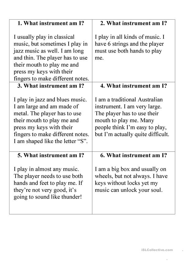What instrument am I?