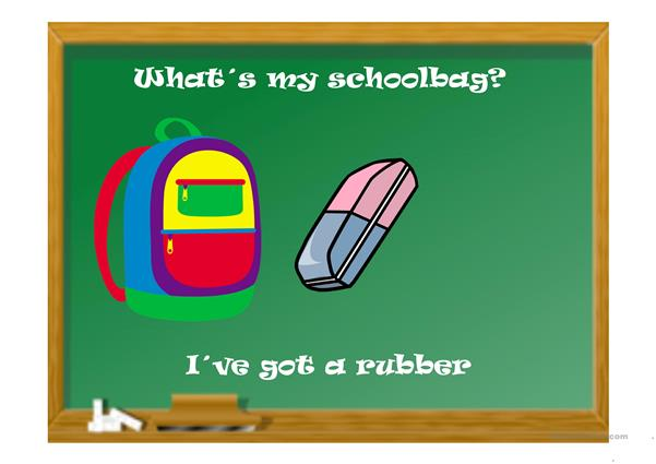 WHAT´S IN MY SCHOOLBAG?