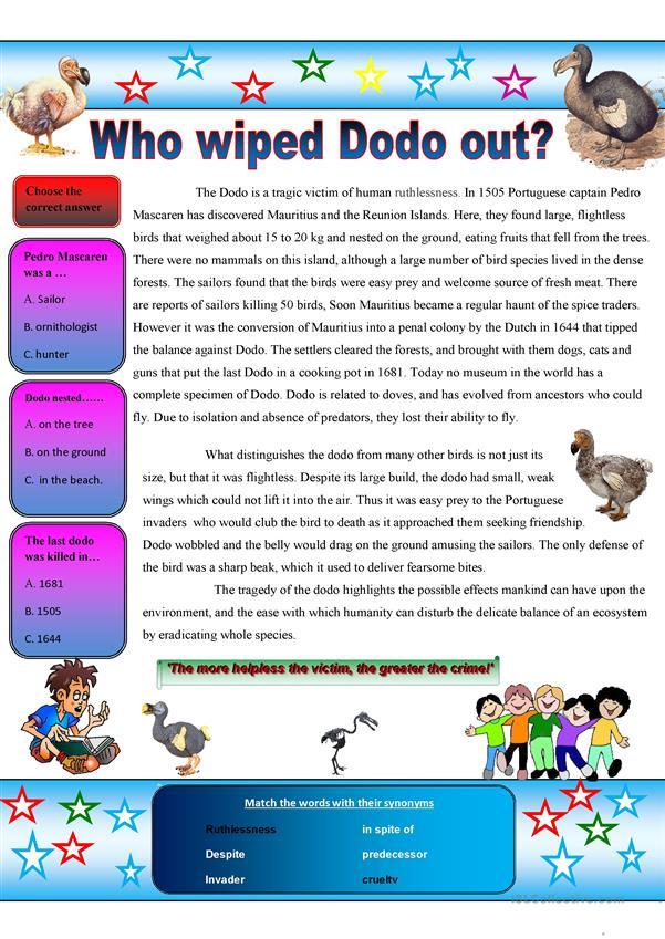 Who wiped Dodo out