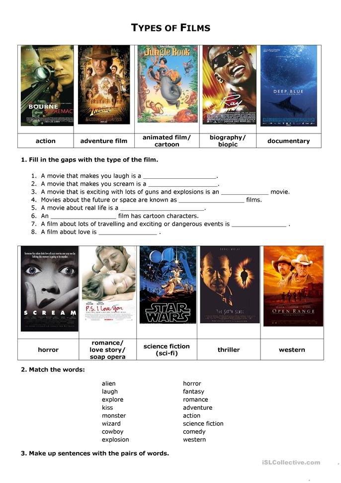 Worksheets Worksheets For Movies 332 free esl movie worksheets films and movies