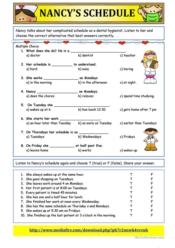 Schedule Worksheet | ABITLIKETHIS