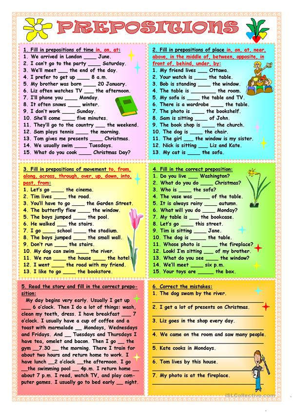 categories of prepositions the free dictionary - 601×849