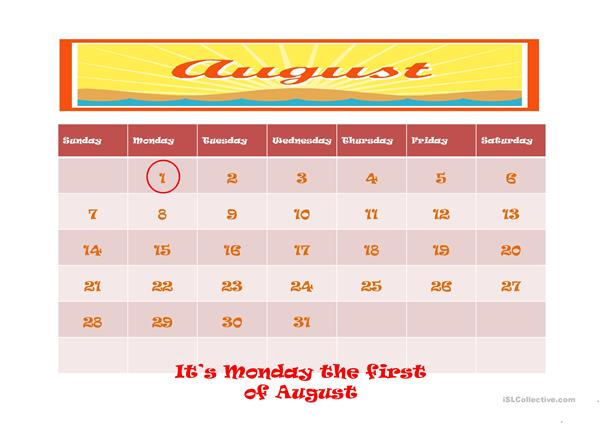 WHATS THE DATE TODAY? worksheet - Free ESL projectable