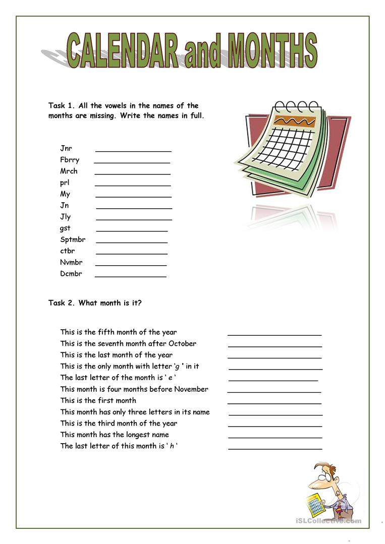 worksheet Calendar Worksheets 85 free esl calendar worksheets and months