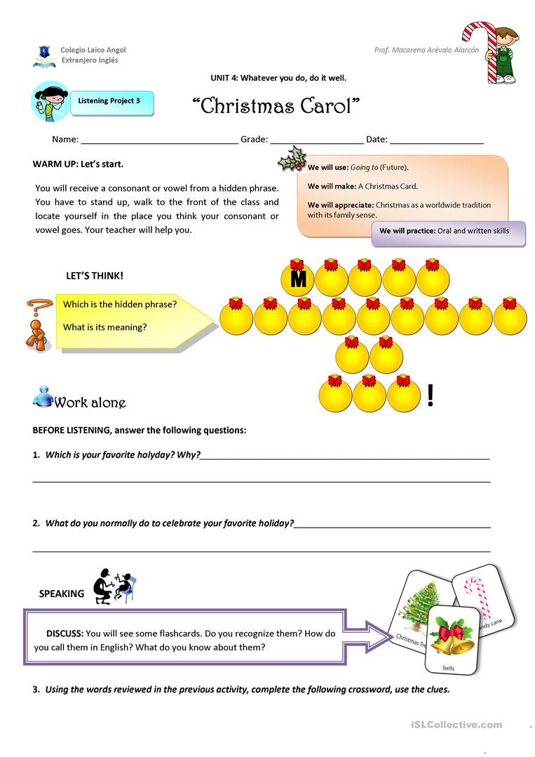 Christmas Carol English Esl Worksheets For Distance Learning And Physical Classrooms