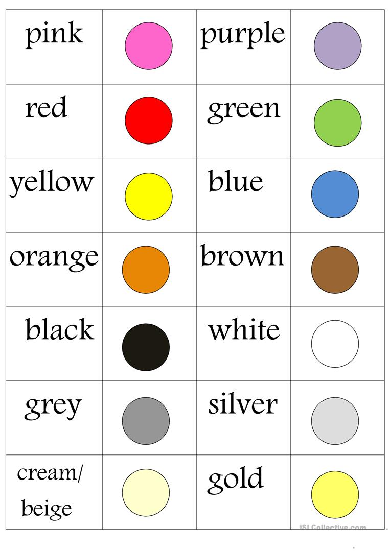 colours memo worksheet free esl printable worksheets. Black Bedroom Furniture Sets. Home Design Ideas