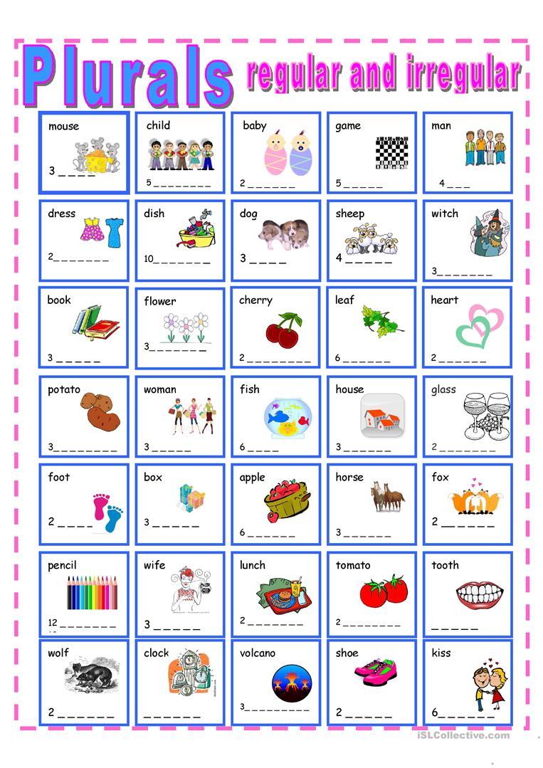 Worksheets Irregular Plural Nouns Worksheet 35 free esl irregular plurals worksheets regular and plurals