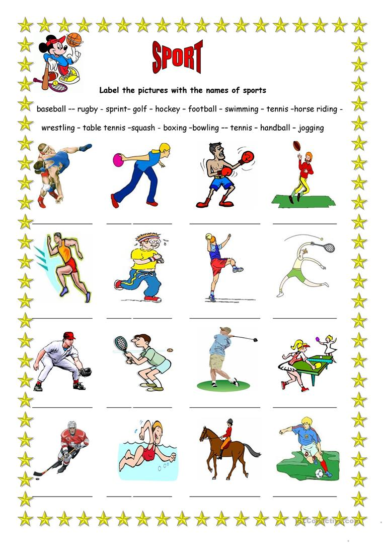 sport 3 worksheet free esl printable worksheets made by. Black Bedroom Furniture Sets. Home Design Ideas