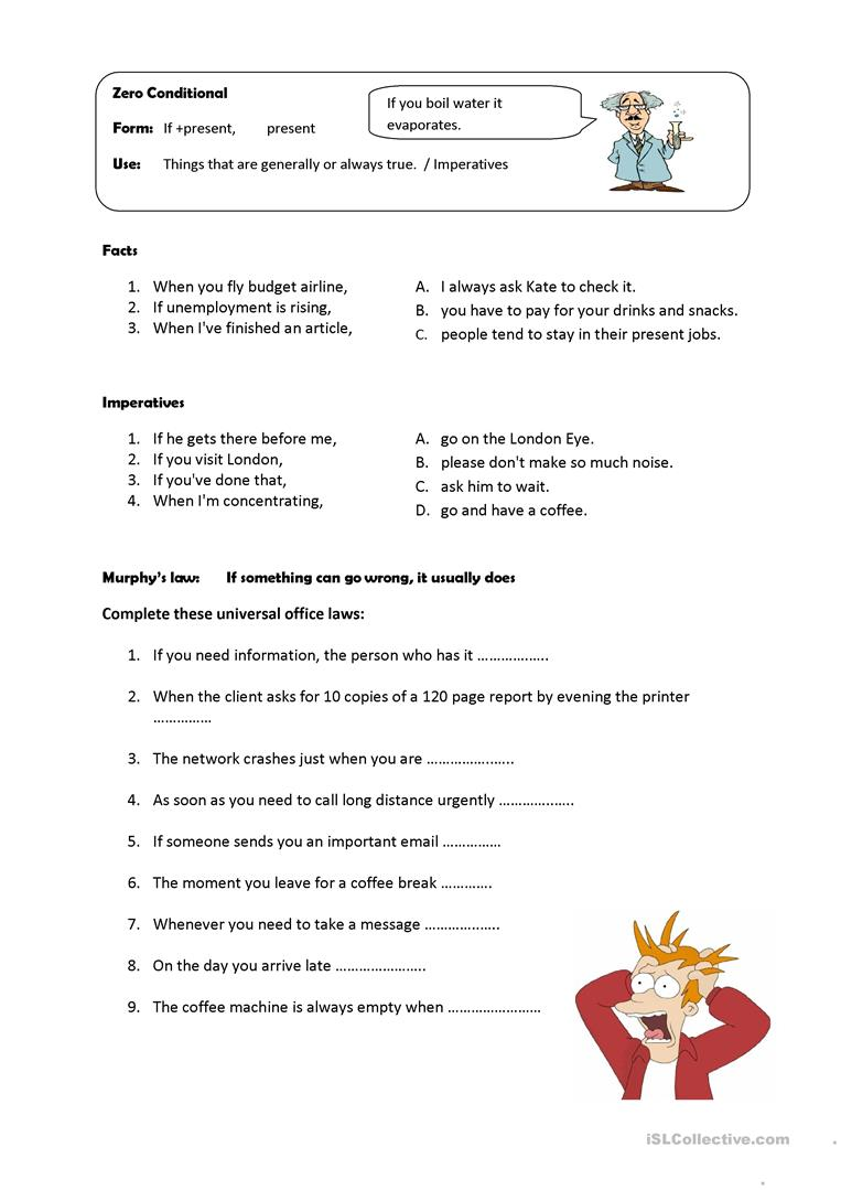Zero Conditional Worksheet Free Esl Printable Worksheets Made By