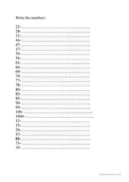 Spanish Numbers Worksheet 1 100 Worksheets for all | Download and ...