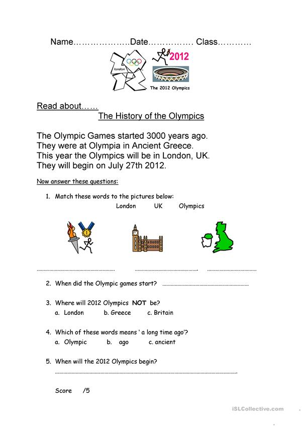 5 short Olympic texts