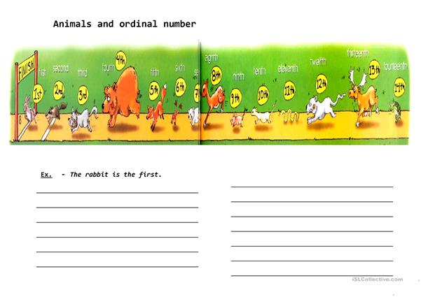 Animals and ordinal number