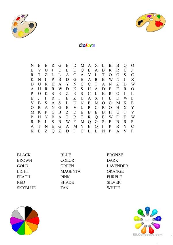 Colors Word Search