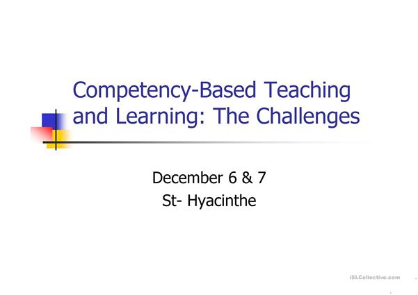 competency based approach