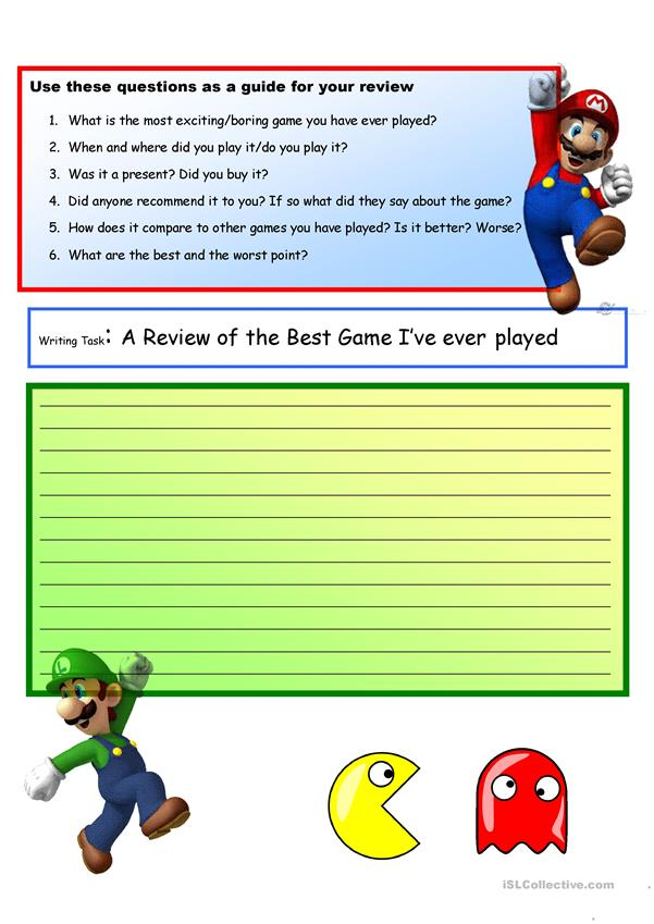 Creative Writing: My Favorite Game #9 A2 Level