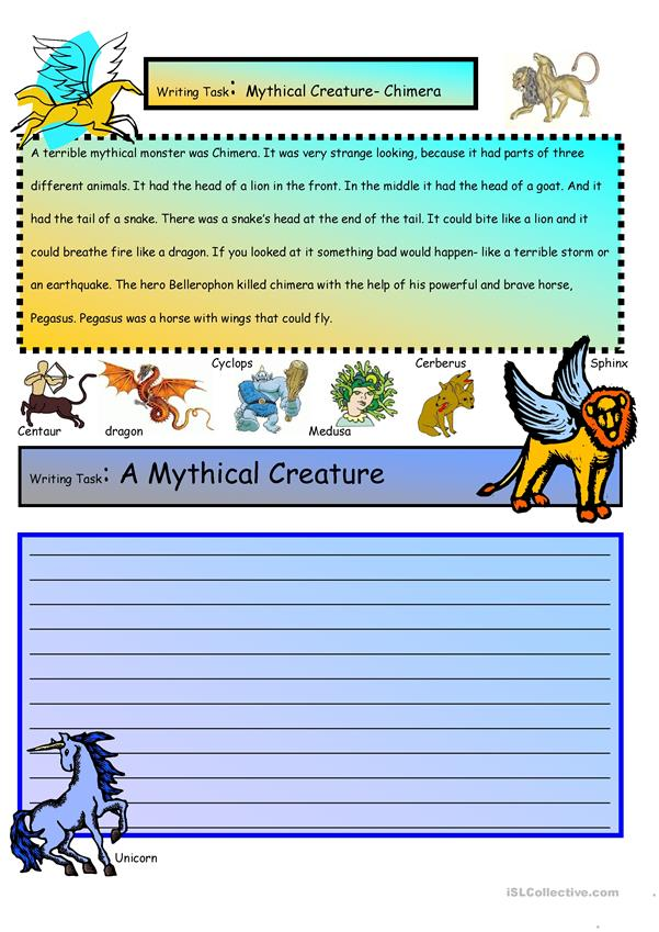 Creative Writing: Mythical Creatures #15 A1 Level