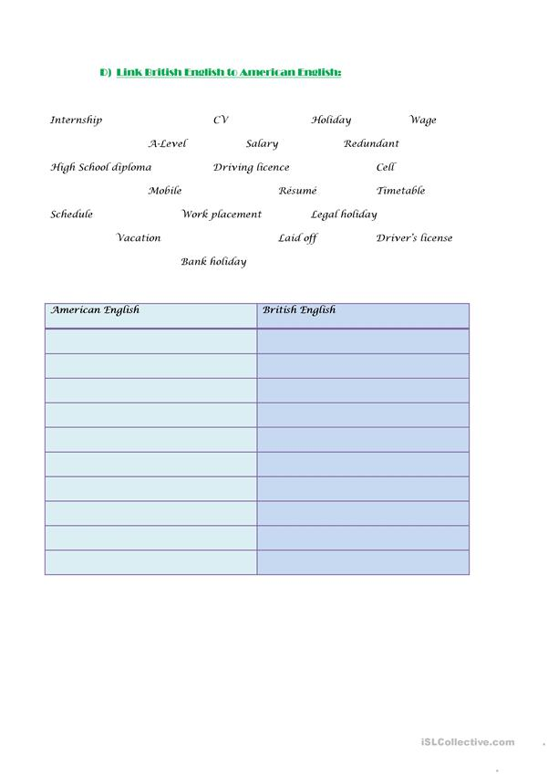 Cv Job Interview Vocabulary Exercises English Esl Worksheets