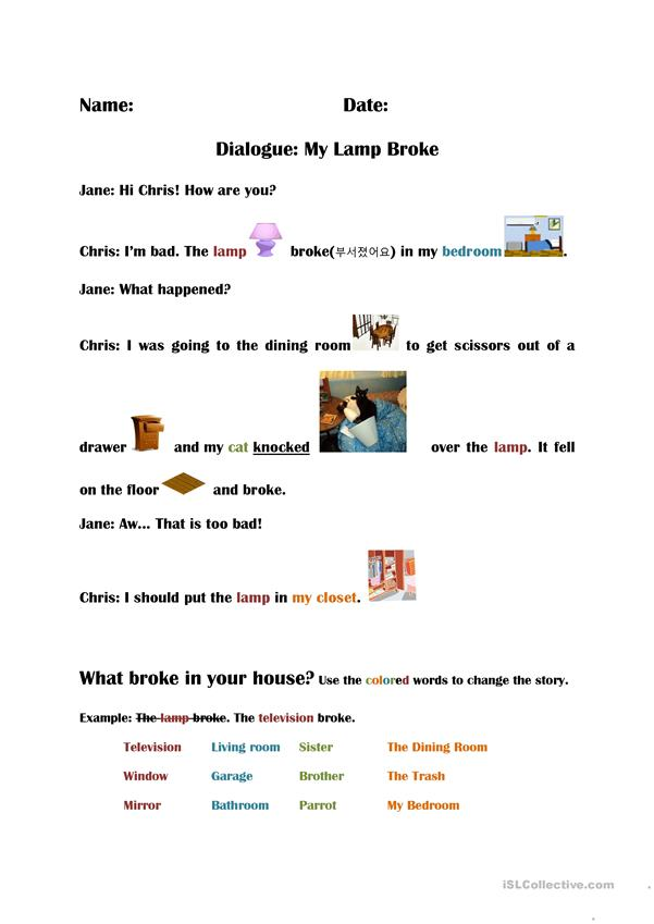 Dialogue Simple Past tense