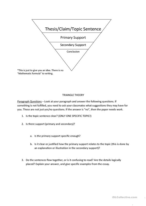 English Paragraphs - Triangles