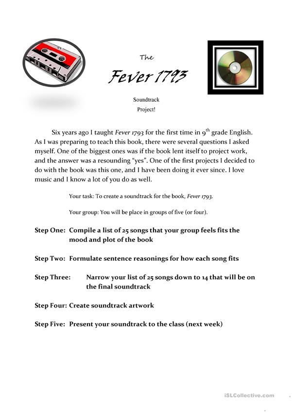 Fever 1793 Soundtrack Project